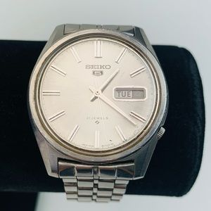 Seiko 5 6119-8040 Stainless Steel Snap Band Watch
